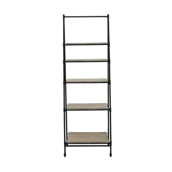 Studio 350 Metal Wood Shelf Stand 24 inches wide, 72 inches high