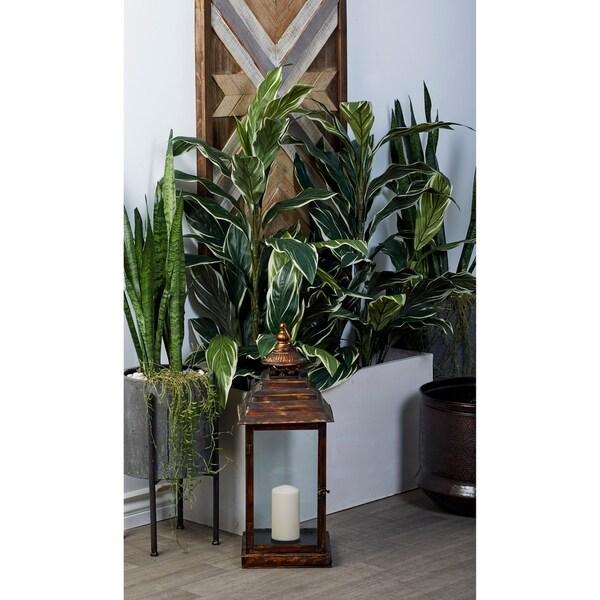 Studio 350 Fiberclay White Planter Set of 2, 32, 40 inches wide