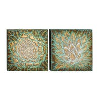 Studio 350 Metal Wall Plaque Set of 2, 20 inches wide, 20 inches high