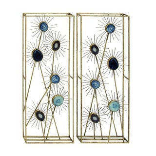 Benzara Metal and Wood Wall Decor (Pack of 2)