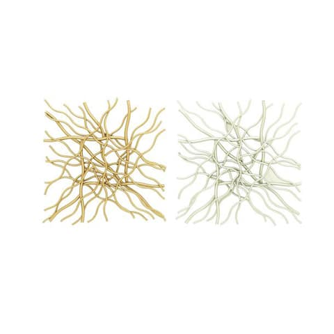 Set of 2 Contemporary 20 Inch Crooked Wires Wall Decor by Studio 350