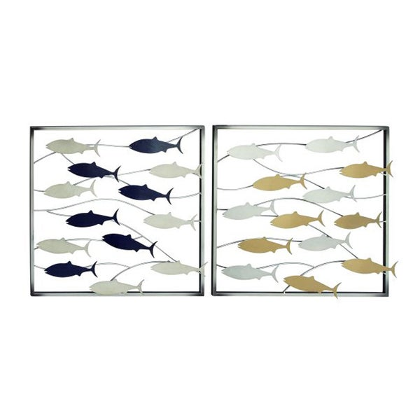 Benzara Outstanding Metal Fish Cutout Wall Decor (Set of 2)