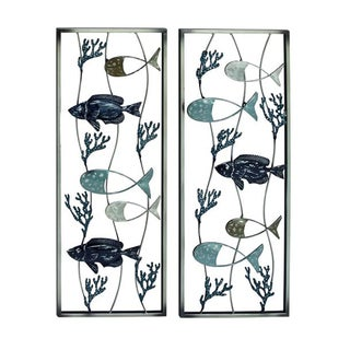 Benzara Metal Sea Wall Decor (Set of 2)