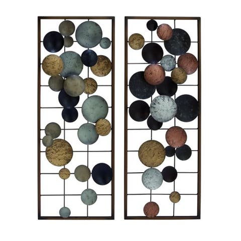 Copper Grove Seymour Abstract Metal Wall Decor (Set of 2)