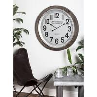 Studio 350 Wood Wall Clock 31 inches D