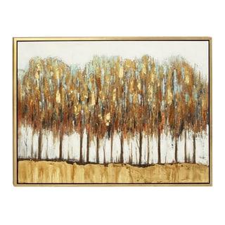 Benzara Artistic Wood Framed Forest Canvas Art