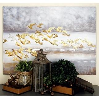 Benzara Alluring Flying Birds Canvas Wall Art