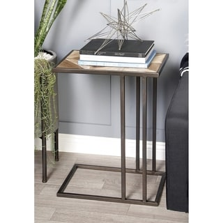 Strick & Bolton Lopardo Metal/ Wood Accent Table