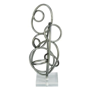 Benzara Metal Acrylic Sculpture