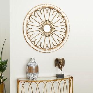 Benzara Mesmerizing Wood Mirror Wall Decor