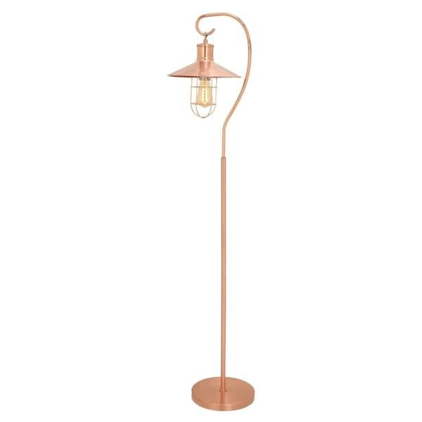 Benzara Modish Metal Copper Floor Lamp with Bulb