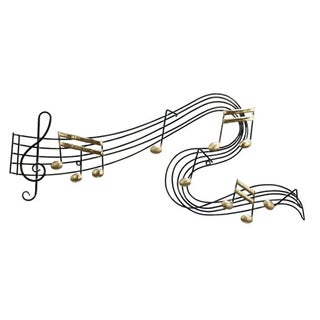 Benzara Beautiful Metal Music Notes Wall Art