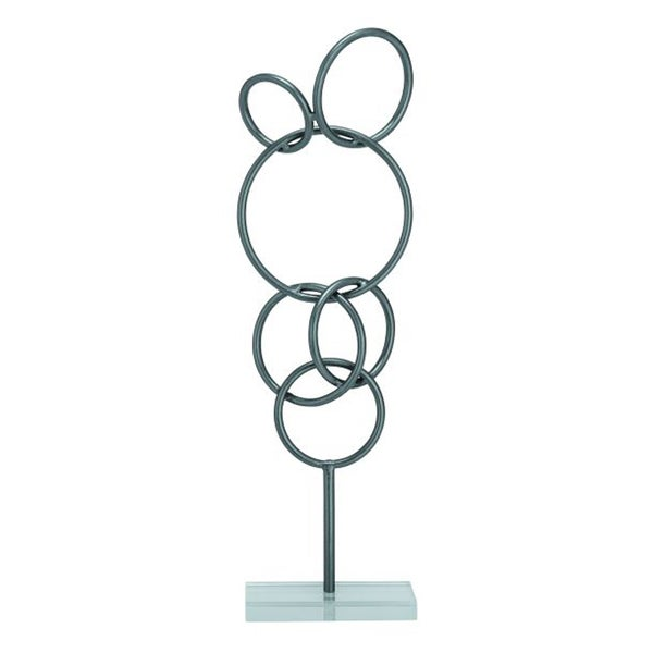 Benzara Alluring Abstract Metal and Acrylic Sculpture
