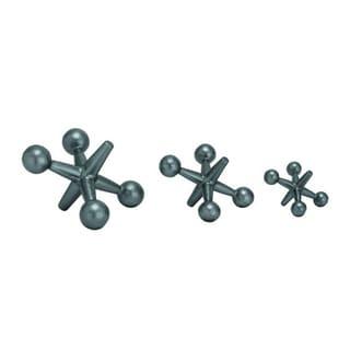 Benzara Metal Jacks Iron Sculpture Set (Pack of 3)
