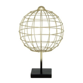 Benzara Vivid Metal Globe Table Decor