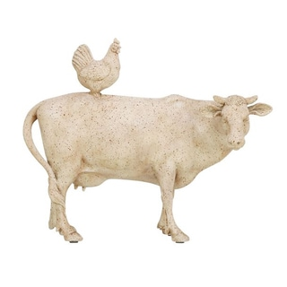 The Gray Barn Jartop Off-white Cow/Hen Animal-themed Statue