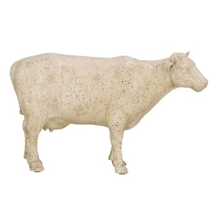 Benzara White Cow Figurine