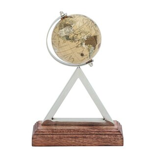 Benzara Stainless-steel, PVC, and Wood Globe - Thumbnail 0