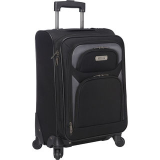 Kenneth Cole Reaction Black 20-inch Expandable Carry-on Spinner Suitcase