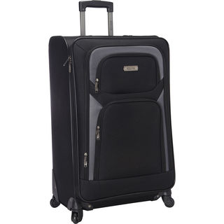 Kenneth Cole Reaction Black Polyester 28-inch Expandable Spinner Suitcase