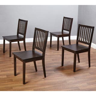 Simple Living Solid Wood Slat Back Dining Chairs (Set of 4)