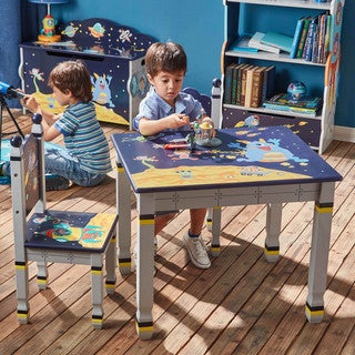 Fantasy Fields - Outer Space Table and Set of Two Chairs