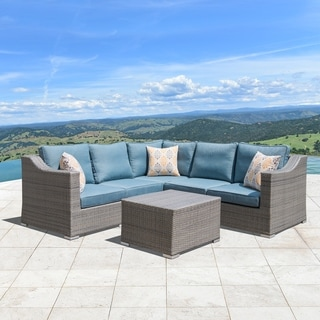 Corvus Martinka 6-piece Grey Wicker Outdoor Furniture Set