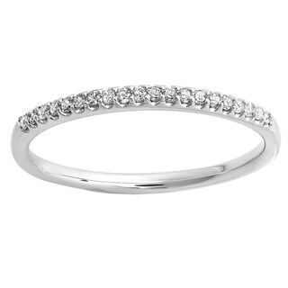 Elora 18K Gold 1/6ct TDW Round Diamond Wedding Band (I-J, I2-I3)