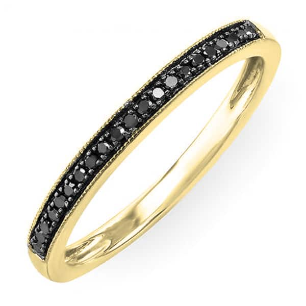 Shop Elora 10k Gold 1 8 Ct Tdw Round Cut Black Diamond Ladies