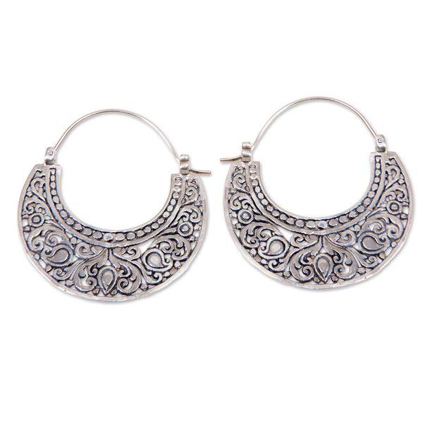 Handmade Sterling Silver 'Garden of Eden' Earrings (Indonesia)