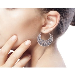 Handcrafted Sterling Silver 'Garden of Eden' Earrings (Indonesia)