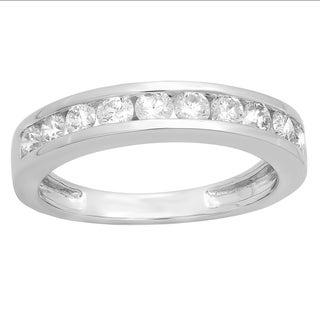 14K White Gold 3/4ct TDW Round Diamond Wedding Band (I-J, SI2-I1)