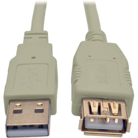 Tripp Lite 6ft USB 2.0 Hi-speed A/A Cable M/M 480 Mbps Beige, USB extension 6'