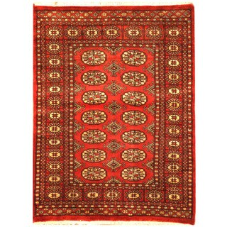 Herat Oriental Pakistani Hand-knotted Bokhara Wool Rug (3'1 x 4'1)