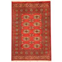 Handmade Herat Oriental Pakistani Bokhara Wool Rug (Pakistan) - 2'6 x 3'9