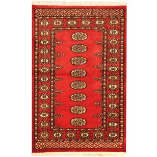 Herat Oriental Pakistani Hand-knotted Bokhara Wool Rug (2'8 x 4')