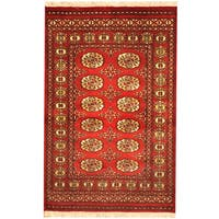 Handmade Herat Oriental Pakistani Bokhara Wool Rug (Pakistan) - 2'7 x 4'