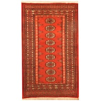 Herat Oriental Pakistani Hand-knotted Bokhara Wool Rug (2'8 x 4'3)