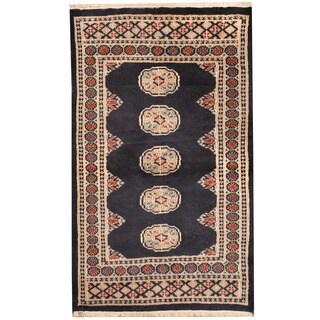 Herat Oriental Pakistani Hand-knotted Bokhara Wool Rug (2'7 x 4'4)