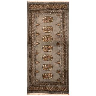 Herat Oriental Pakistani Hand-knotted Bokhara Wool Rug (2'1 x 4'6)
