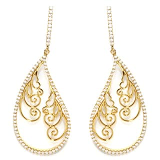 Goldplated Sterling Silver Filigree with Cubic Zirconia Drop Earrings https://ak1.ostkcdn.com/images/products/13040808/P19780757.jpg?impolicy=medium
