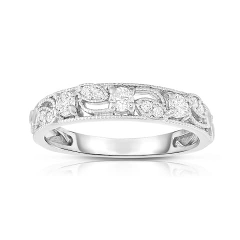 Noray Designs 14K White Gold 1/4ct TDW Diamond Stackable Ring - White G-H - White G-H