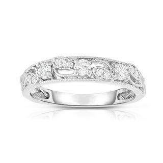 Noray Designs 14K White Gold 1/4ct TDW Diamond Stackable Ring (G-H, SI1-SI2)