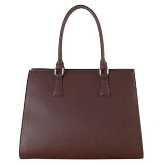 Rimen & Co. Saffiano Concise Design Large Structured Tote Bag