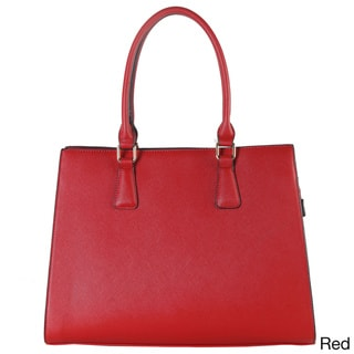 Saffiano Concise Design Large Structured Tote Bag