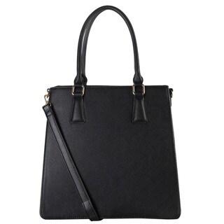 Rimen & Co. Saffiano Multi Spaced Studded Decor Large Structured Tote Bag