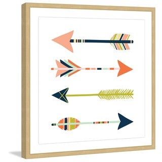 Marmont Hill - 'Arrows' by Melanie Clarke Framed Painting Print