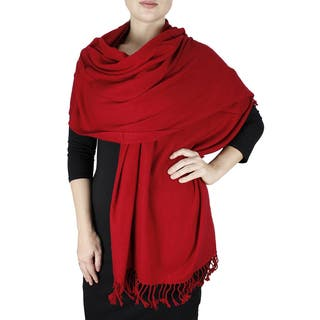 Peach Couture Women's 100% Pure Certified Cashmere Shawl