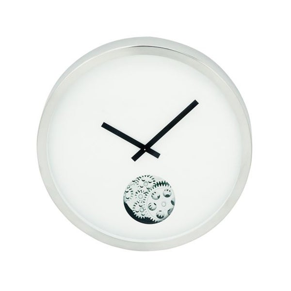 Oliver James Buri Modern Stainless Steel Wall Clock