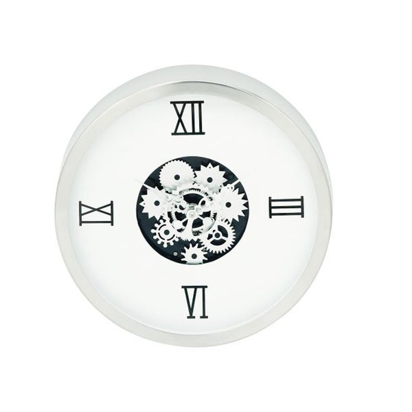 Contemporary Stainless Steel Gear Wall Clock